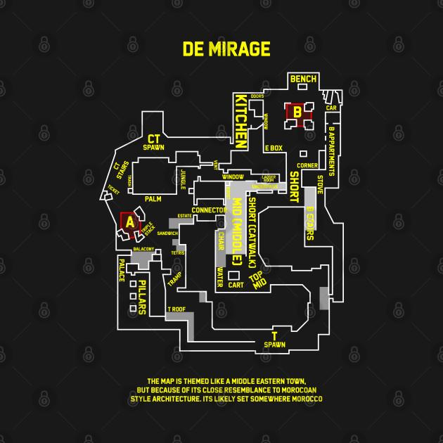 T-Shirt Mirage Csgo map