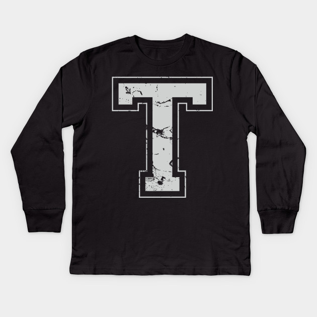 Initial Letter T Gray Jersey Sports Athletic Player