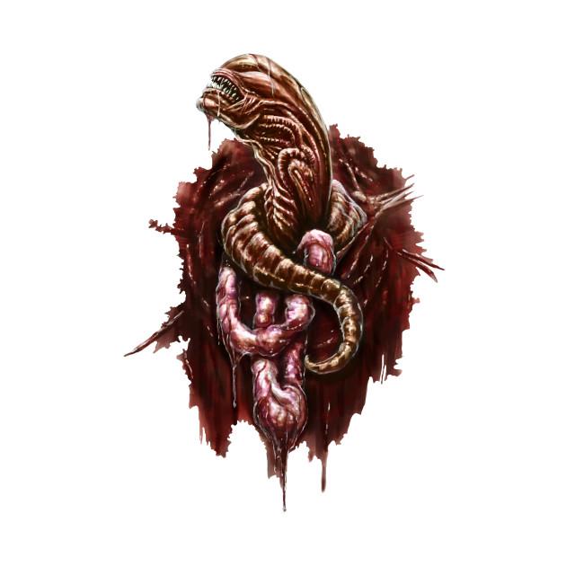 Chestburster Aliens T Shirt Teepublic