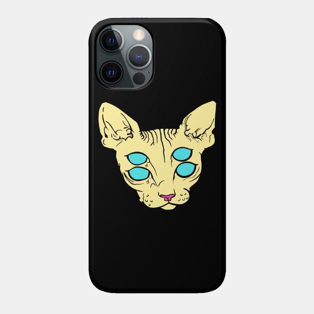 Yellow alien cat
