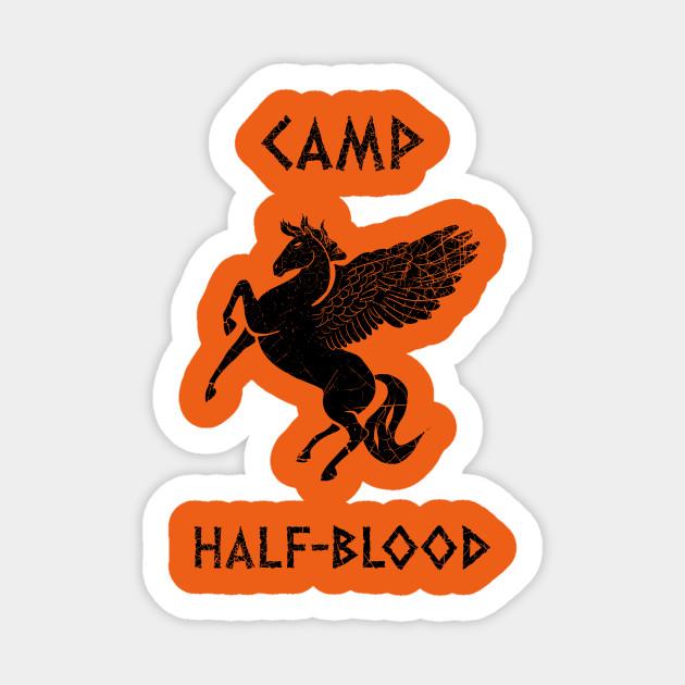 Camp Half Blood Distressed Books Sticker Teepublic