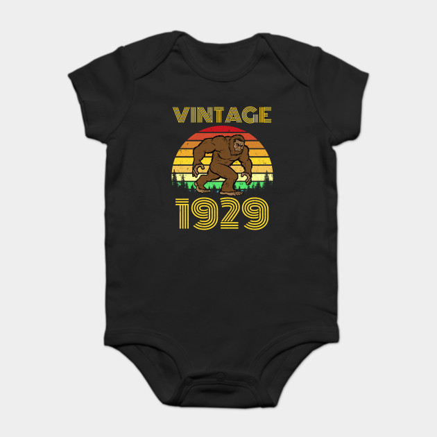 1929 90th Birthday Vintage Bigfoot 90 Years Old Gift Onesie