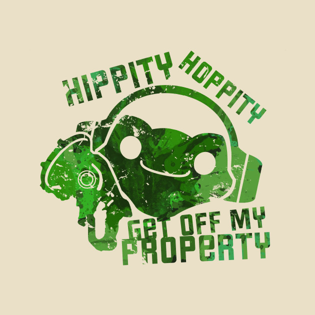 Overwatch Lucio Frog Hippity Hoppity Get Off My Property T-Shirt (ALTERNATE)