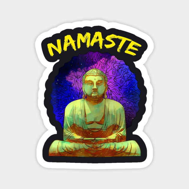 Namaste Buddha In Space T Shirt