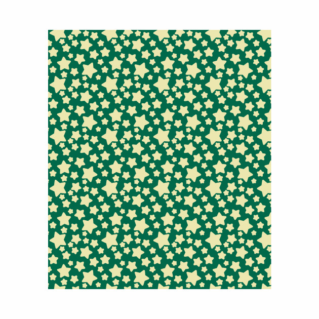 Green Yellow Star Pattern