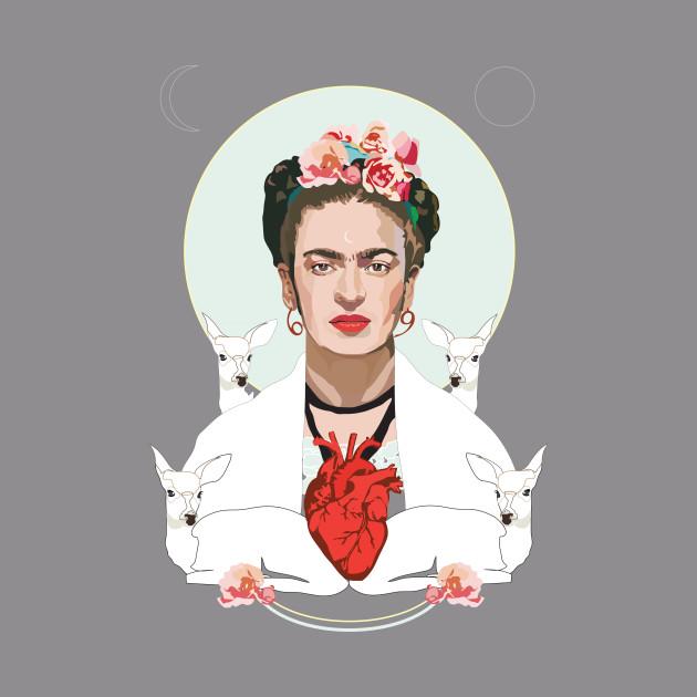 Frida Kahlo (white)
