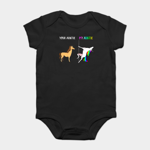 57a31a6cf Your Aunt My Aunt Unicorn T-Shirt - Funny Niece T-Shirt Gift Onesie