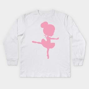 61fb063d Ballerina Silhouette, Little Ballerina - Pink Kids Long Sleeve T-Shirt