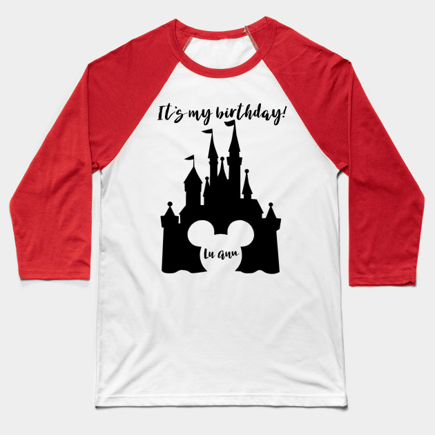 LuAnn Disney Birthday Baseball T Shirt
