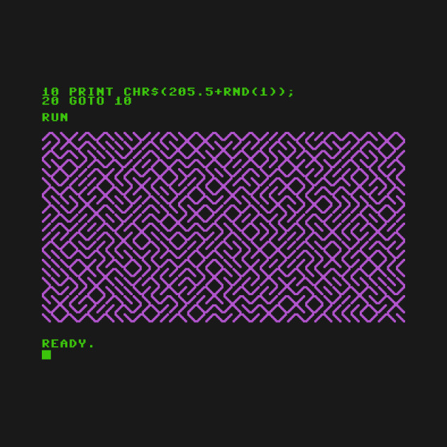 C64 maze generator