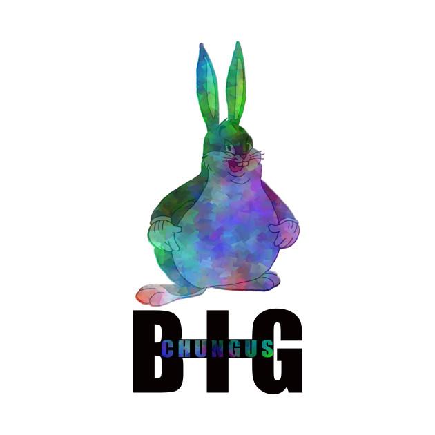 Funny Big Chungus Fat Bunny Meme Retro Vintage Big Chungus Meme