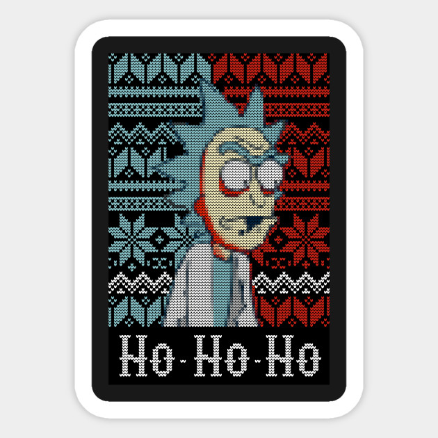 Rick And Morty Christmas Sweater.Rick Sanchez Ugly Christmas Sweater