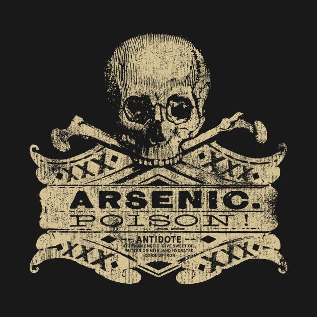 6e379261 Vintage Arsenic Skull Poison Label Halloween Tee Vintage Arsenic Skull  Poison Label Halloween Tee