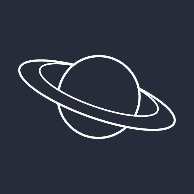 Minimal outer space Saturn planet