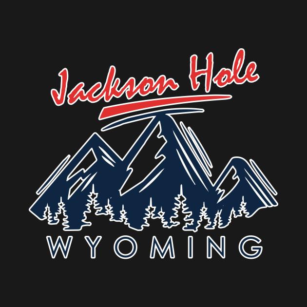 Jackson Hole Wyoming Shirt Vintage City Retro Tshirt Gift Tee by dezziart