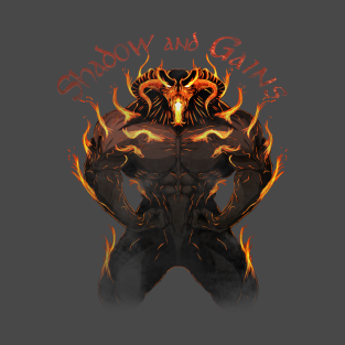 Balrog - Shadow and Gains - Distressed t-shirts
