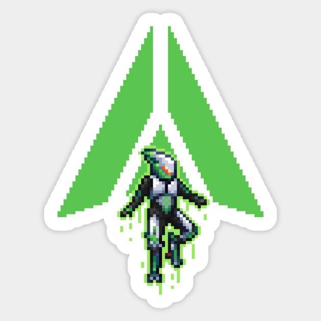 Anthem Pixel Interceptor Javelin Anthem Sticker Teepublic