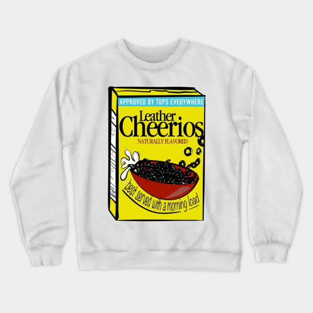 leather cheerios humor felpa teepublic it teepublic