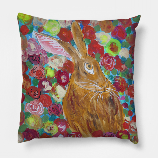 Hare among Roses
