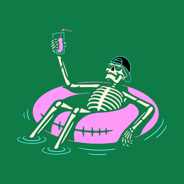 skull in the beach