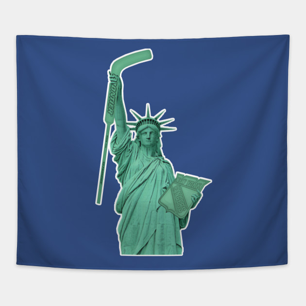 NY Rangers Statue of Hockey - New York Rangers - Tapestry  a9fefc21a