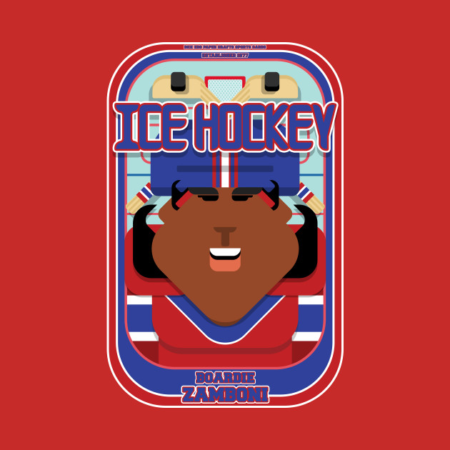 Ice Hockey Red and Blue - Boardie Zamboni - Aretha version