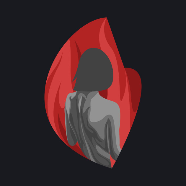 lonely heat - edgy red girl