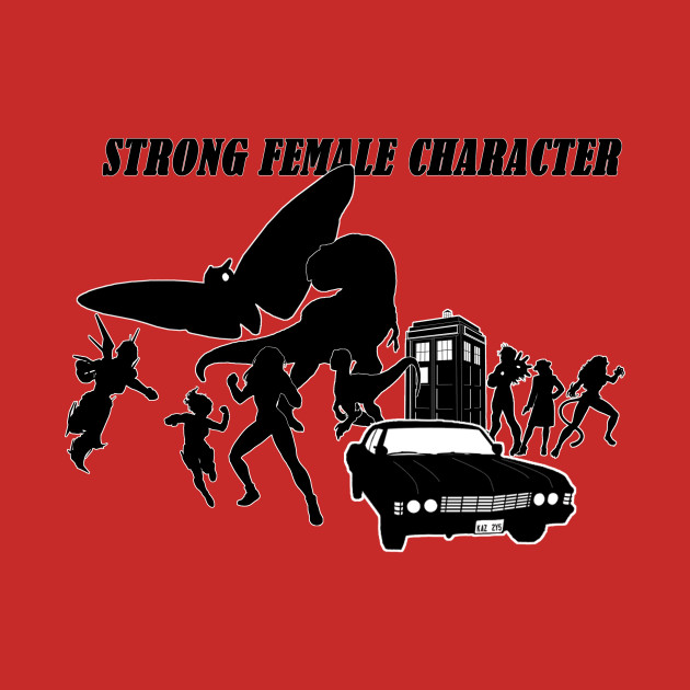 Strong Female Character Collage