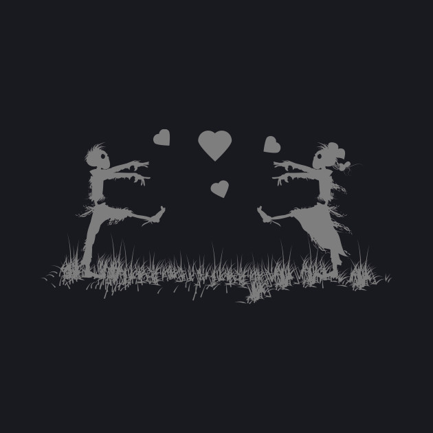 Zombies in Love Gray