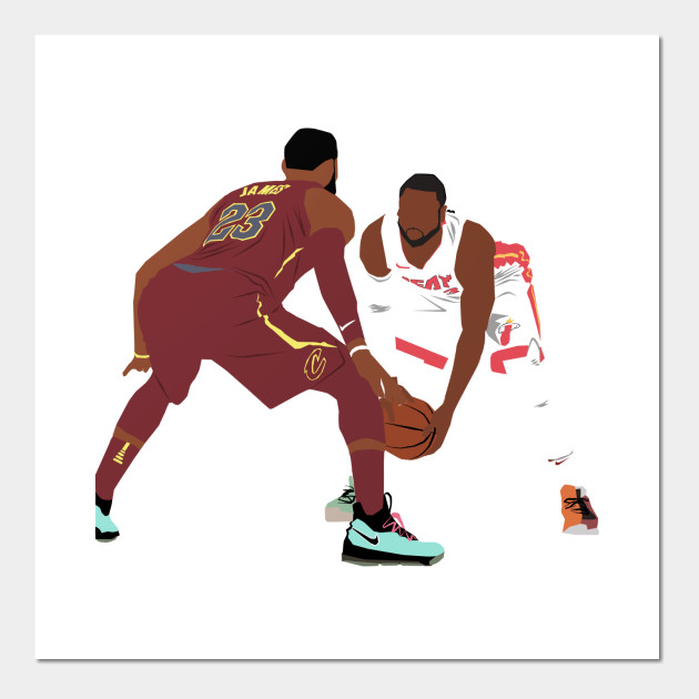 f94f5cea Dwyane Wade vs LeBron James - Dwyane Wade - Posters and Art Prints ...
