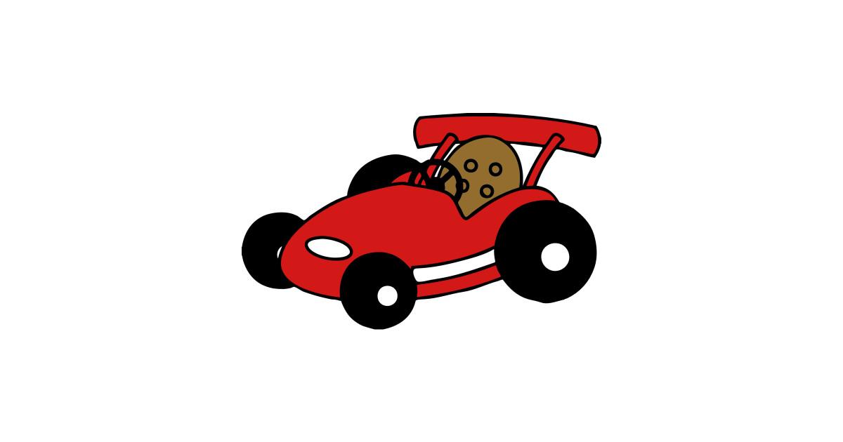 Go-Kart Racing Car Drawing - Go Kart - Notebook | TeePublic