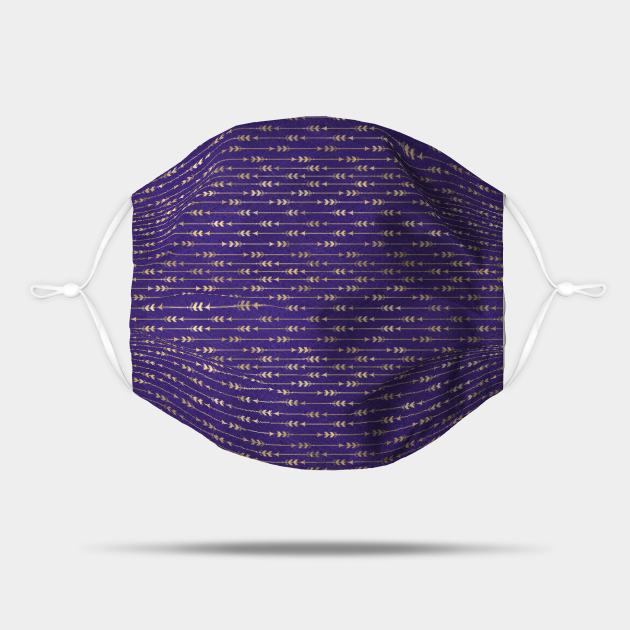 Chic Purple and Gold Arrow Pattern