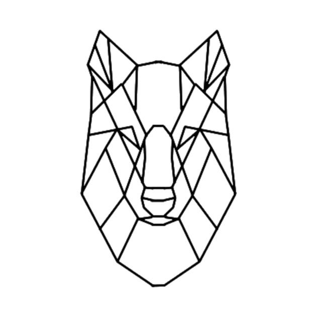 Geometric Wolf - Geometry - T-Shirt | TeePublic
