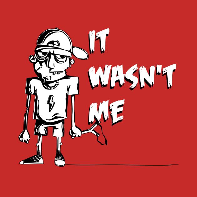 Funny cartoon t-shirt for all mischievous