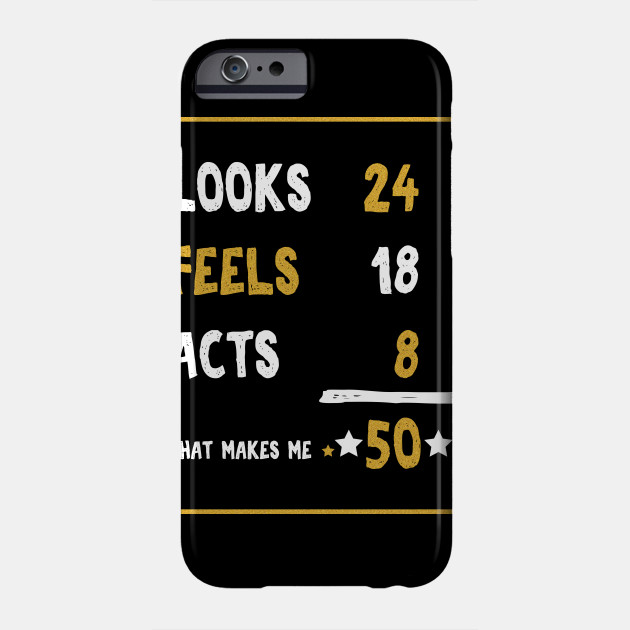 50 Years Old Birthday Gift Year Present Phone Case