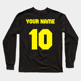 1878811f1bb Make Your Own Custom - Football, Soccer, Basketball, Sports - Your name,  Number and Color Long Sleeve T-Shirt