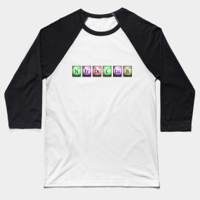 nerds club in chemical elements... Baseball T-Shirt
