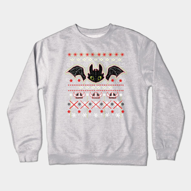 Snoggletog Knit Toothless Crewneck Sweatshirt Teepublic