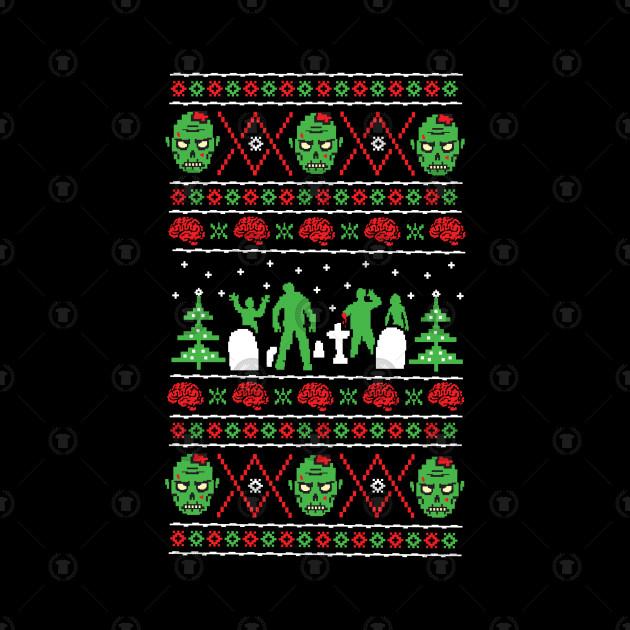 Zombie Ugly Xmas Sweater