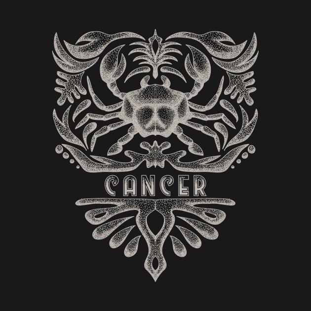 Cancer Zodiac Sign Vintage Astrology