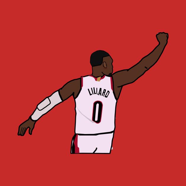 Damian Lillard Waves Goodbye to the Thunder - NBA Portland Trailblazers