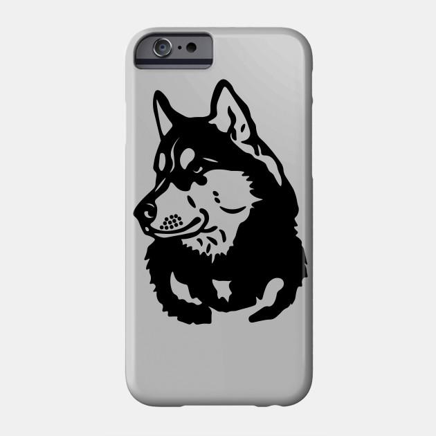 Husky Outline Husky Phone Case Teepublic