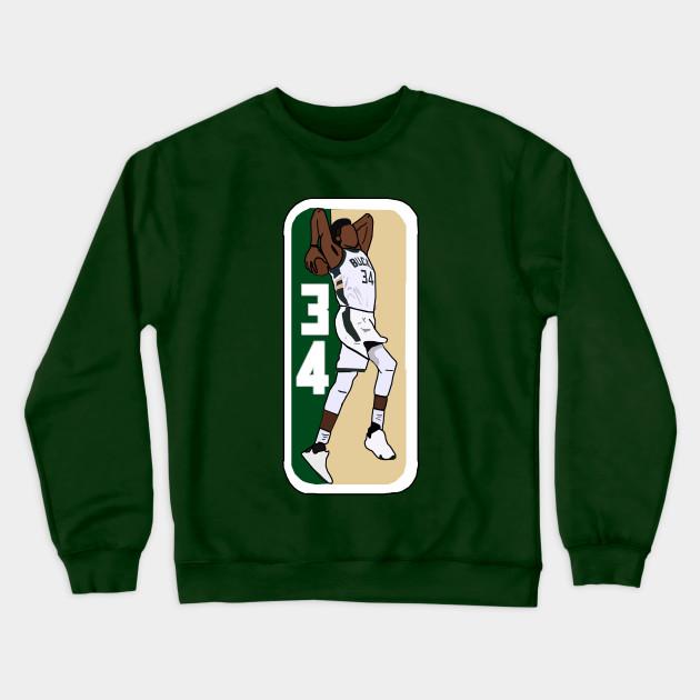 reputable site f78d0 1f147 Giannis Antetokounmpo Tomohawk Dunk NBA Logo - Milwaukee Bucks