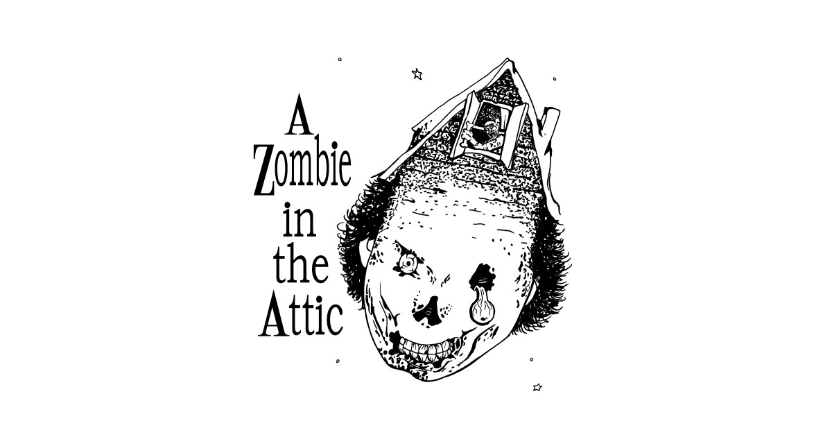 Shel Silverstein Wall Decal: A Zombie In The Attic - Childrens Book - T-Shirt