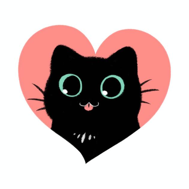 I Heart Black Cats! (Fun Edition)