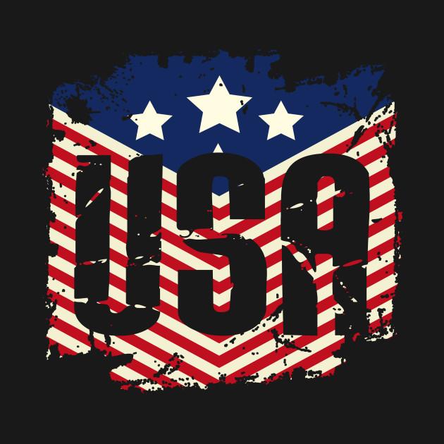 ec372e6716e 4th of July U.S. America American Flag - American Flag - Kids T ...