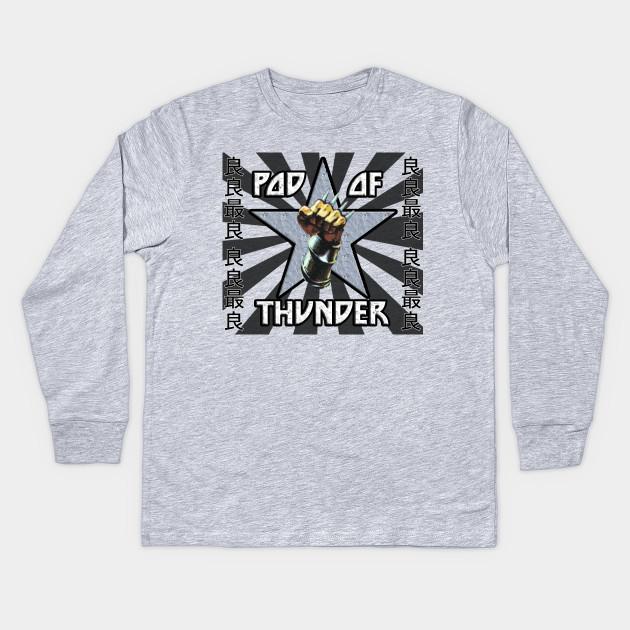 cd05d6436b1 POD OF THUNDER RISING SUN GGRG BLACK - Pod Of Thunder - Kids Long ...