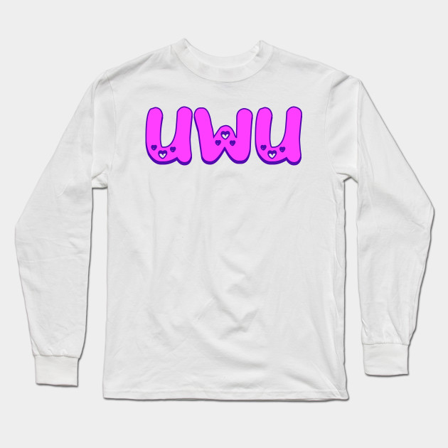 Cute Uwu Heart Emoji Social Media Meme Stan Idol Kpop Tshirt Uwu