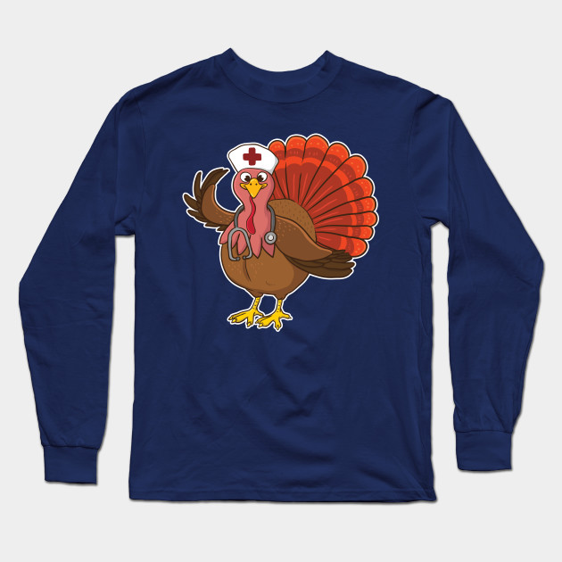 da79d14d74 RN Nurse Turkey Halloween - Nurse - Long Sleeve T-Shirt | TeePublic
