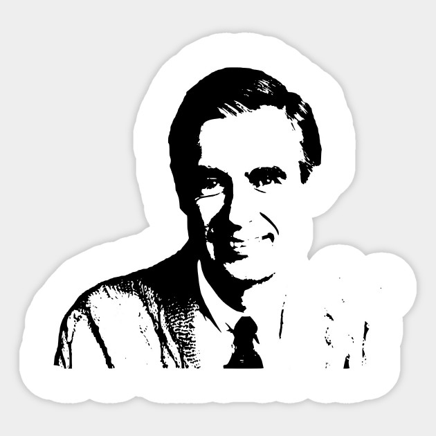 We Love Mr Rogers 3 Mr Rogers Sticker Teepublic Uk